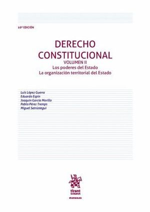 DERECHO CONSTITUCIONAL VOLUMEN II 10ª EDICIÓN 2016