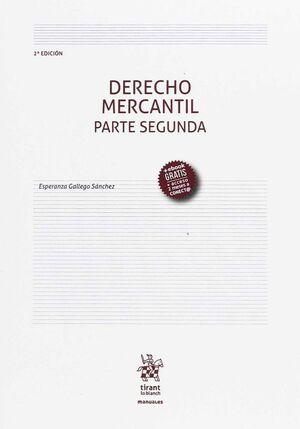 DERECHO MERCANTIL PARTE SEGUNDA 2ª EDICIÓN 2017