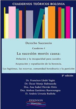 CUADERNOS TEÓRICOS BOLONIA. DERECHO SUCESORIO. CUADERNO I. LA SUCESIÓN MORTIS CAUSA: DELACIÓN Y LA I