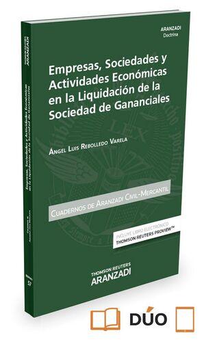 EMPRESAS, SOCIEDADES Y ACTIVIDADES ECONÓMICAS EN LA LIQUIDACIÓN DE LAS SOCIEDAD DE GANANCIALES (PAPE