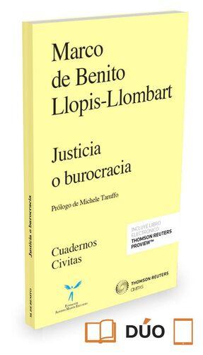 JUSTICIA O BUROCRACIA (PAPEL E-BOOK)