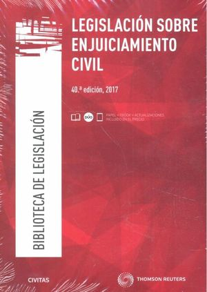 LEGISLACION SOBRE ENJUICIAMIENTO CIVIL 2017