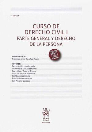 CURSO DE DERECHO CIVIL I PARTE GENERAL Y DERECHO DE LA PERSONA 7ª EDICIÓN 2017