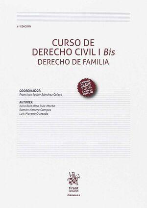 CURSO DE DERECHO CIVIL I BIS DERECHO DE FAMILIA 4ª EDICIÓN 2017