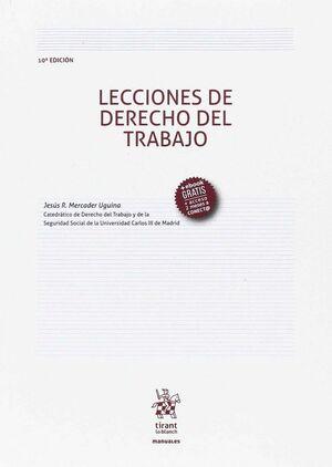 LECCIONES DE DERECHO DEL TRABAJO 10ª ED. 2017