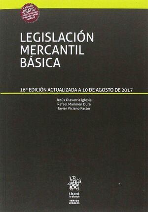 LEGISLACIÓN MERCANTIL BÁSICA TEXTOS LEGALES 16ª EDICIÓN 2017