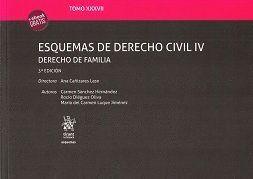 TOMO XXXVII ESQUEMAS DE DERECHO CIVIL IV DERECHO DE FAMILIA 3ª EDICIÓN 2017