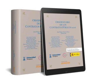 OBSERVATORIO DE LOS CONTRATOS PÚBLICOS 2016 (PAPEL + E-BOOK)