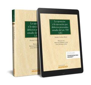 OPOSICION A LA EJECUCION POR DEFECTOS PROCESALES, LA ESTUDIO DEL ARTICULO 559 LEC
