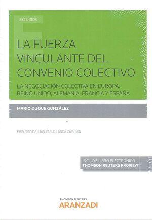 FUERZA VINCULANTE DEL CONVENIO COLECTIVO