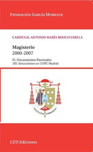 MAGISTERIO 2000-2007.IV. DOCUMENTOS PASTORALES