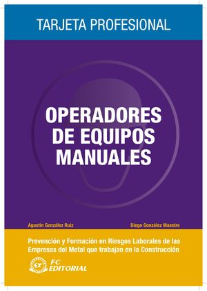 OPERADOR DE EQUIPOS MANUALES