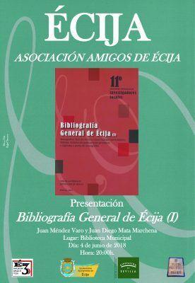 BIBLIOGRAFÍA GENERAL DE ÉCIJA (I).