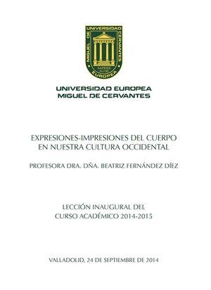 EXPRESIONES-IMPRESIONES DEL CUERPO EN NUESTRA CULTURA OCCIDENTAL