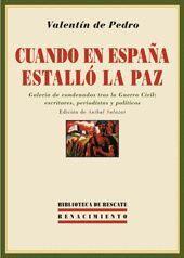 CUANDO EN ESPAÑA ESTALLÓ LA PAZ