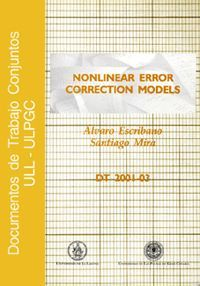NONLINEAR ERROR CORRECTION MODELS