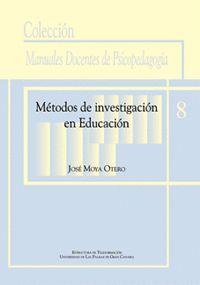 MÉTODOS DE INVESTIGACIÓN EN EDUCACIÓN