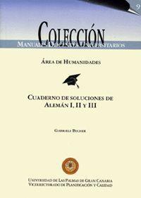 ALEMÁN I, II Y III. CUADERNOS DE SOLUCIONES