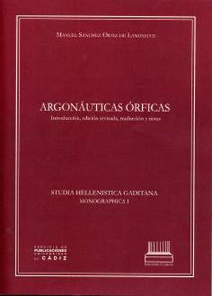ARGONÁUTICAS ÓRFICAS