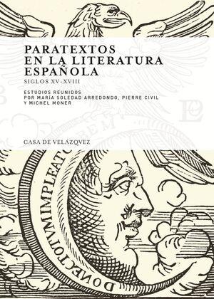 PARATEXTOS EN LA LITERATURA ESPAÑOLA