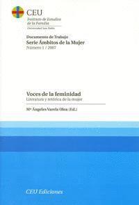 VOCES DE LA FEMINIDAD. VOL I