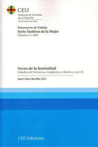 VOCES DE LA FEMINIDAD. VOL II