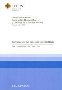 LA VOCACIÓN DEL PROFESOR UNIVERSITARIO
