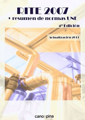 RITE 2007 CON RESUMEN DE NORMAS UNE