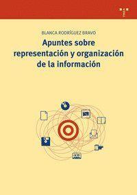APUNTES SOBRE REPRESENTACIÓN Y ORGANIZACIÓN DE LA INFORMACIÓN