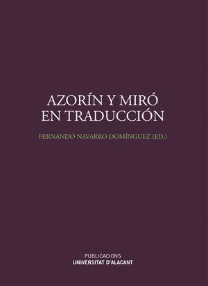 AZORÍN Y MIRÓ EN TRADUCCIÓN
