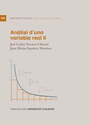 ANÀLISI D'UNA VARIABLE REAL II