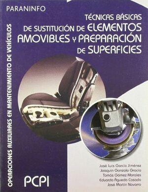 TÉCNICAS BÁSICAS DE SUSTITUCIÓN DE ELEMENTOS AMOVIBLES Y PREPARACIÓN DE SUPERFICIES
