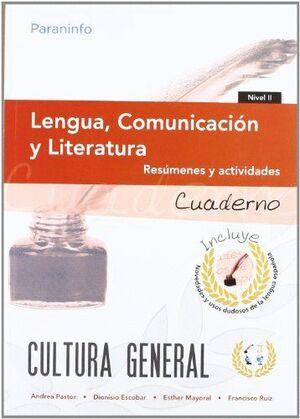 CUADERNO DE TRABAJO. LENGUA, COMUNICACIÓN Y LITERATURA. NIVEL 2