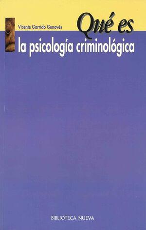 QUÉ ES LA PSICOLOGÍA CRIMINOLÓGICA