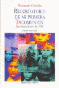 RECORDATORIO DE MI PRIMERA INCOMUNIÓN