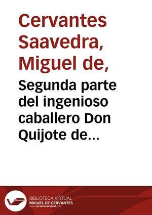 DON QUIJOTE DE LA MANCHA (SEGUNDA PARTE)
