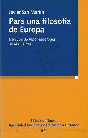 PARA UNA FILOSOFÍA DE EUROPA