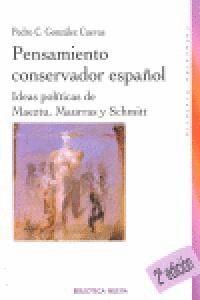 PENSAMIENTO CONSERVADOR ESPAÑOL