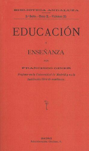 EDUCACIÓN Y ENSEÑANZA POR FRANCISCO GINER