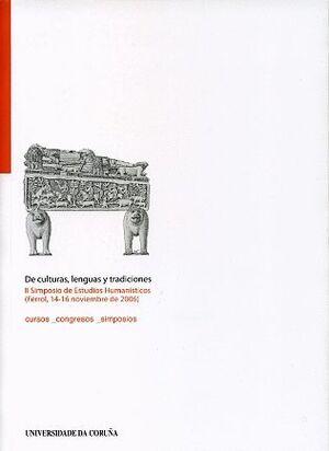 DE CULTURAS, LENGUAS Y TRADICIONES. II SIMPOSIO DE ESTUDIOS HUMANÍSTICOS