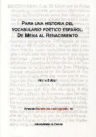 PARA UNA HISTORIA DEL VOCABULARIO POÉTICO ESPAÑOL.