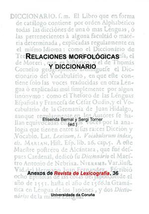 RELACIONES MORFOLÓGICAS Y DICCIONARIO