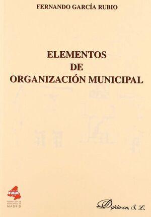 ELEMENTOS DE ORGANIZACIÓN MUNICIPAL