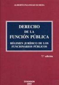 DERECHO DE LA FUNCION PUBLICA. RÉGIMEN JURDICO DE LOS FUNCIONARIOS PÚBLICOS