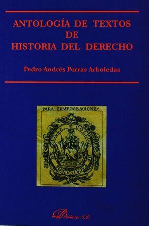 ANTOLOGIA DE TEXTOS DE HISTORIA DEL DERECHO