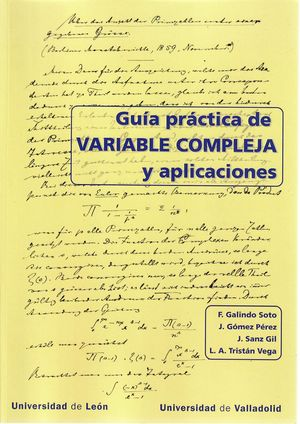 GUÍA PRACTICA DE VARIABLE COMPLEJA Y APLICACIONES