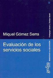 EVALUACIÓN DE LOS SERVICIOS SOCIALES