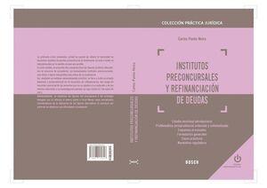 INSTITUTOS PRECONCURSALES Y REFINANCIACION DE DEUD