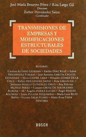 TRANSMISIONES DE EMPRESAS Y MODIFICACIONES ESTRUC.