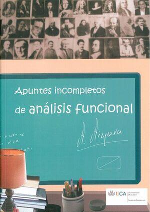 APUNTES INCOMPLETOS DE ANÁLISIS FUNCIONAL.